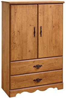 South Shore Wardrobe Closet Armoire   Perfect Bedroom Storage Furniture    The Dresser Has 2 Drawers