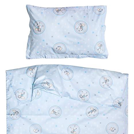 Oso y caballo - Ropa de cama para minicuna, 100% Algodón (funda de