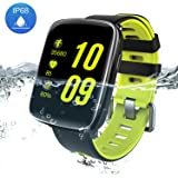 Smart Watch Bluetooth Fitness Watch - Waterproof Touchscreen, Call SMS Reminder, Step Counter, Heart Rate & Sleep Monitor Sport Smartwatch for iOS / Android by Yarrashop(Green)