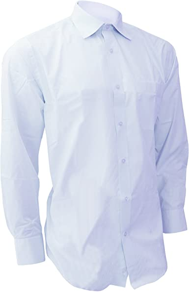 Brook Taverner Camisa de Manga Larga Diseño Ejecutivo Modelo Rapino Para Hombre Caballero - Trabajo/Boda/Fiesta