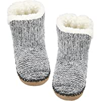 ALLBEST Slipper Socks with Grippers for Women,Winter Cozy&Comfy Boot Slippers for Women