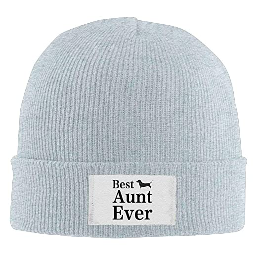 bf282223ad6086 Image Unavailable. Image not available for. Color: Winter Knitting Wool  Warm Hat Daily Hats Best Dog Aunt Ever Woolen Caps Ash