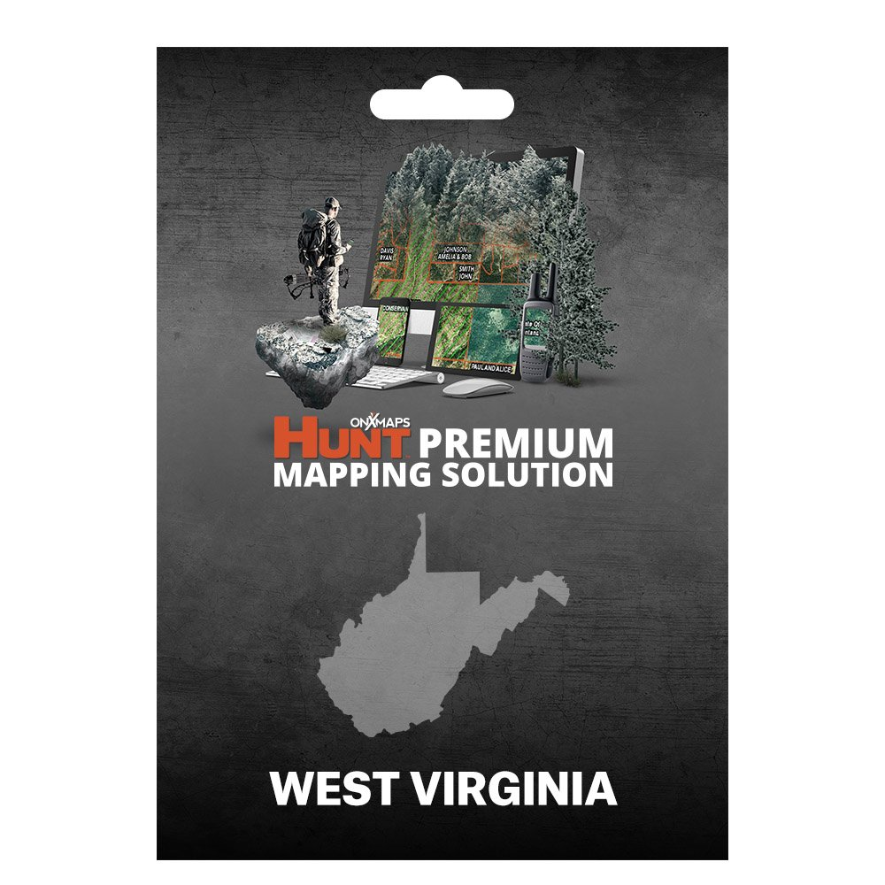 onXmaps HUNT West Virginia: Digital Hunting Map For Garmin GPS + Premium Membership For Smartphone and Computer - Color Coded Land Ownership - 24k Topo - Hunting Specific Data by onXmaps (Image #1)
