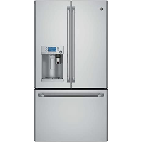 Amazon.com: GE CFE28USHSS Cafe 27.7 Cu. Ft. Stainless Steel French ...