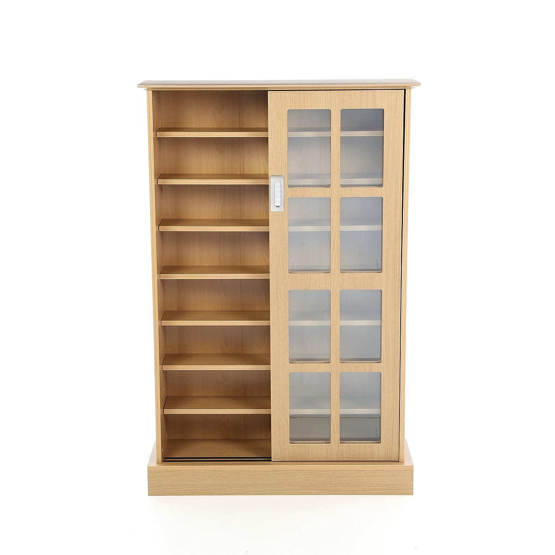 Amazoncom Multimedia Storage Cabinet With Sliding Glass Doors