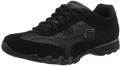 Skechers Speedsters, Women's Low Top Sneakers, Black (Black), 2 UK