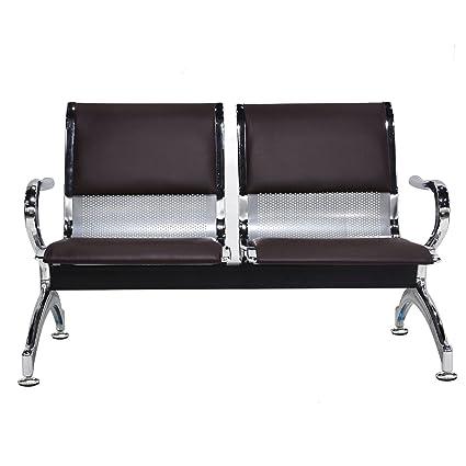 Stupendous Amazon Com Wonline 2 Seat Guest Airport Reception Waiting Unemploymentrelief Wooden Chair Designs For Living Room Unemploymentrelieforg