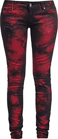 Skarlett Girl-Jeans rot/schwarz Black Premium by EMP 6hGyQivGT