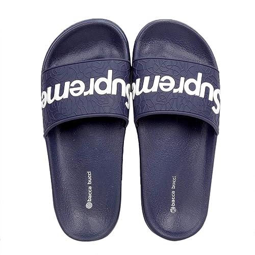 d502350eee4a9b Bacca Bucci Men s Benassi Solarsoft Slide Athletic Sandal Beach Slippers Slidders Lounge  Slide