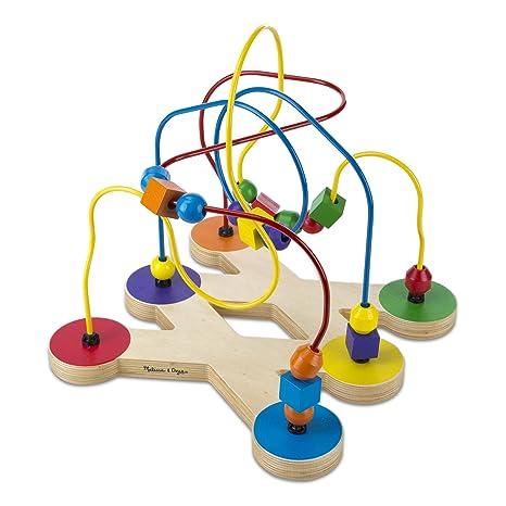 c678a58cc670 Amazon.com  Melissa   Doug Classic Bead Maze - Wooden Educational Toy   Melissa   Doug  Toys   Games