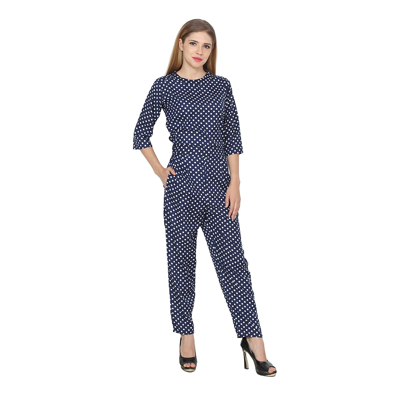 c459346cf5ec My Swag Women s Crepe Polka Dot Jumpsuit  Amazon.in  Clothing   Accessories