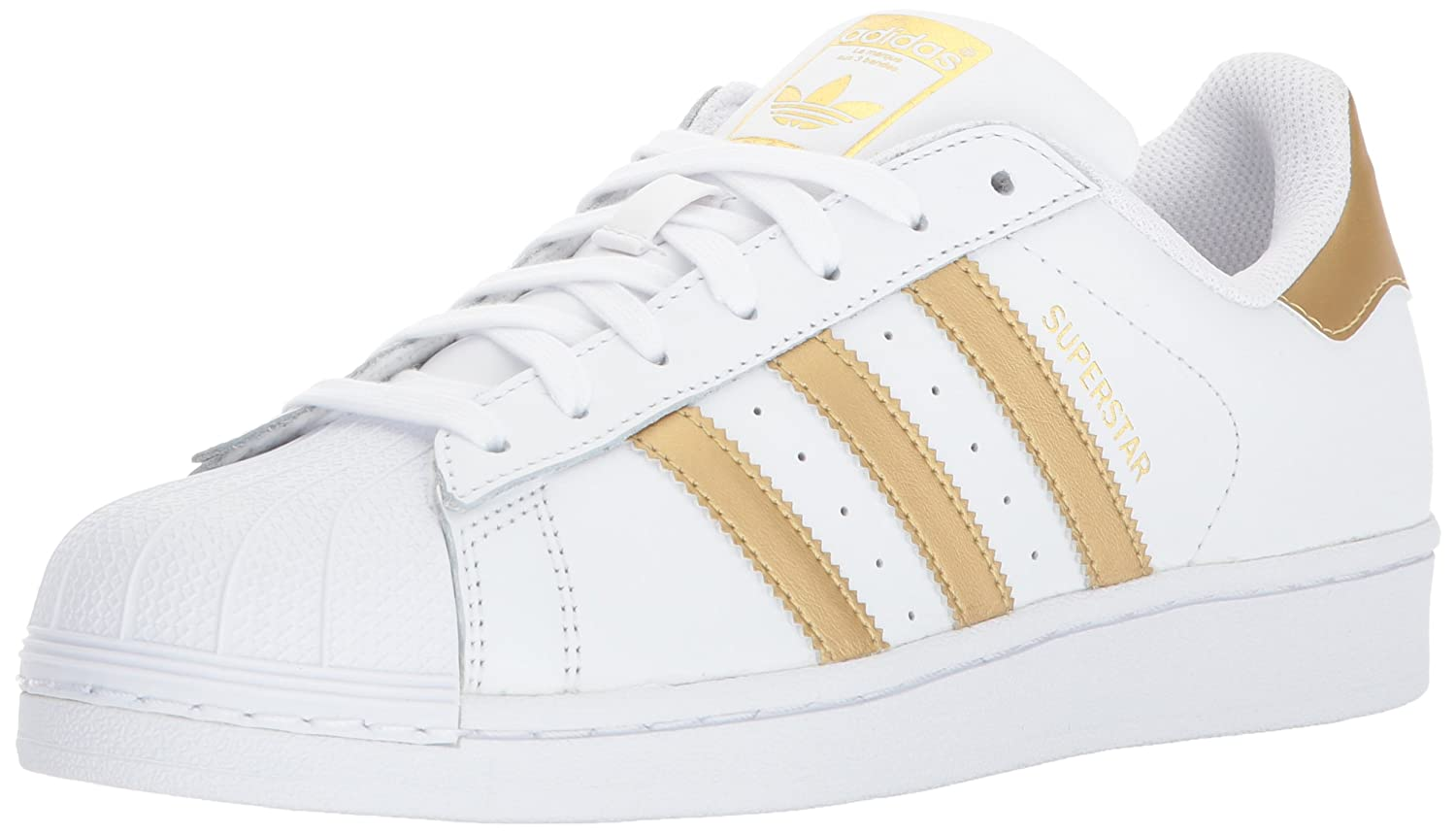 adidas Women's Originals Superstar B01J4S7Q7I 6 B(M) US|White/Metallic Gold/Gold