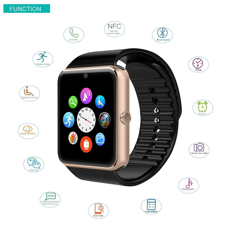 Amazon.com: Willful SW016 - Reloj inteligente Bluetooth con ...