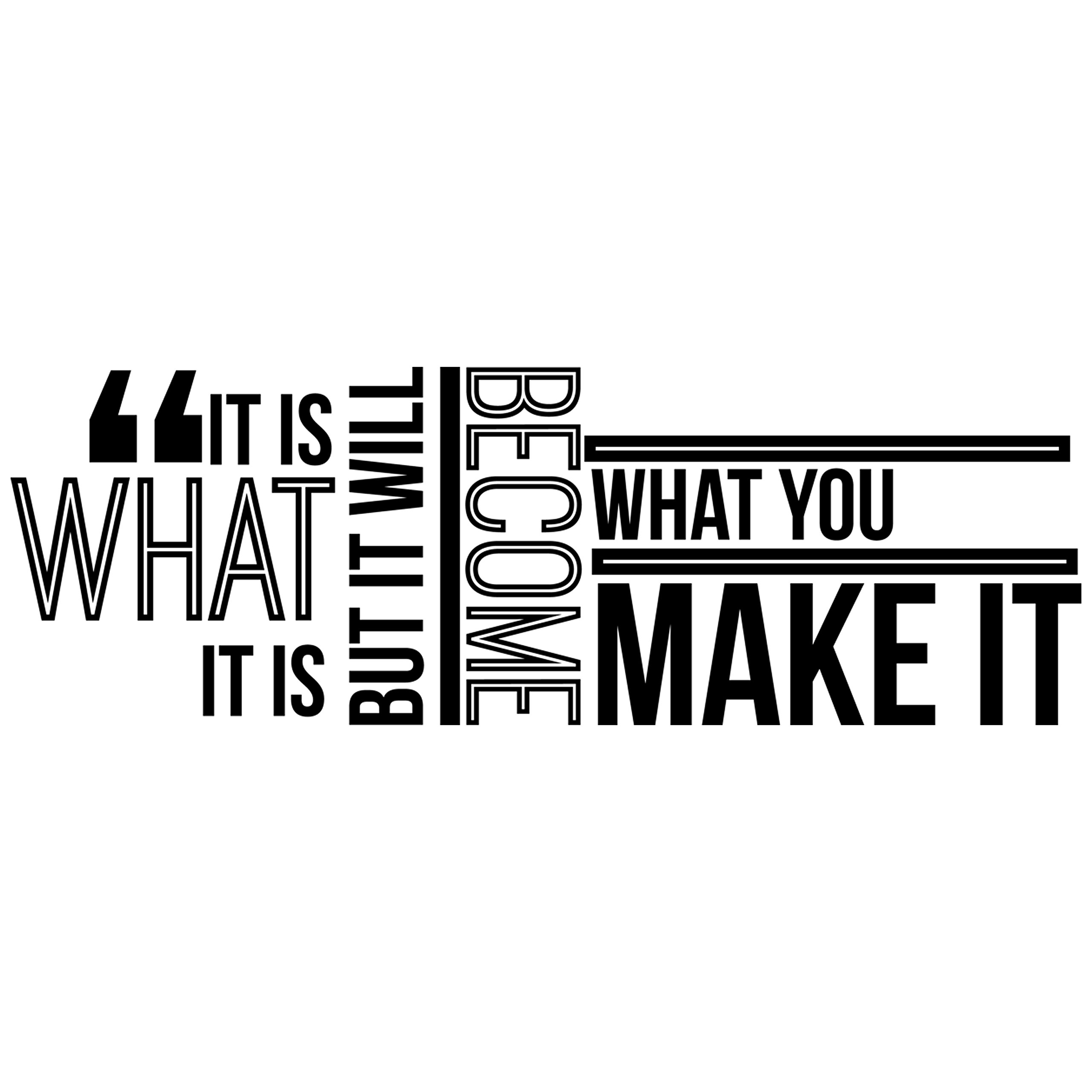 My Vinyl Story It is What it is Inspirational Wall Decal Quote for staying Inspired, Motivated, Focused, Positive, Motivational Office Wall Decor Wall Art Vinyl Wall Decal Words and Saying 42x15 In.