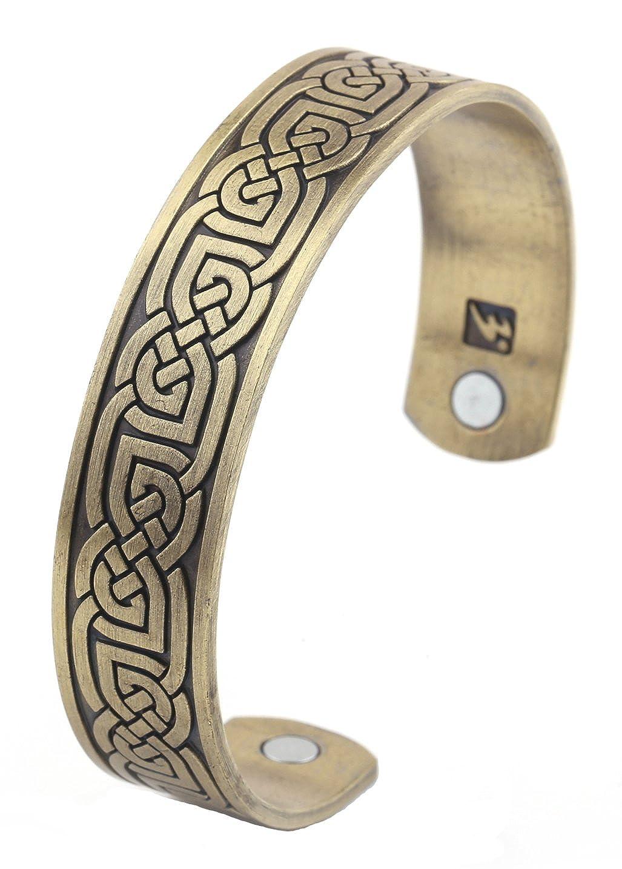 Bracelet jonc n/œud celtique irlandais Viking en acier inoxydable pour homme