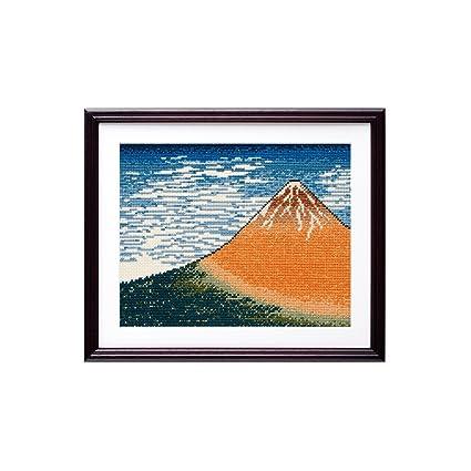 Amazon com: Ukiyo-e Landscape Cross Stitch Kit 2 - Red Mount