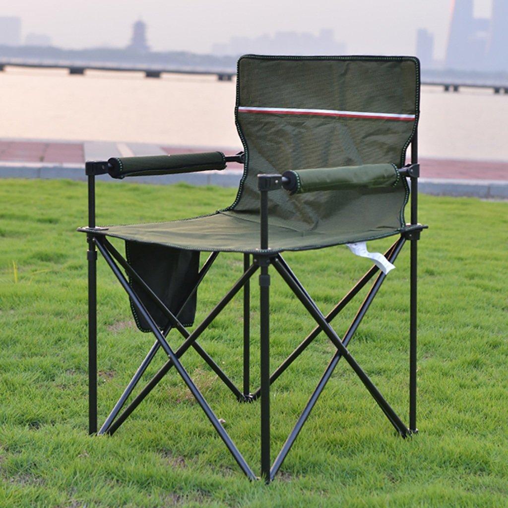 Y hwzdyキャンプ椅子丈夫軽量アウトドアシート_ Perfect for、ガーデン、キャンピング、祭Caravan Trips、釣り、ビーチ、BBQs グリーン B07CLG7HJP  グリーン