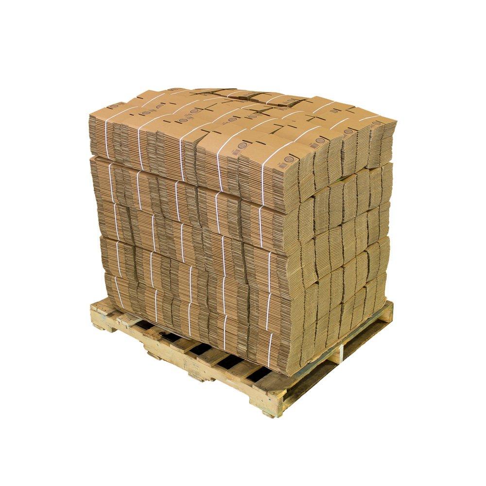 Pratt PRA0001PLT Recycled Corrugated Cardboard Single Wall Standard Cube Box with C Flute, 4'' Length x 4'' Width x 4'' Height (Pack of 2500)