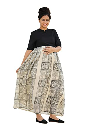 8c25cf990eced GRAVIDANZA9 Women Viscose Material Indian Yet Global Print Kalamkari Maternity  Dress Pregnancy and Nursing Maxi Dress