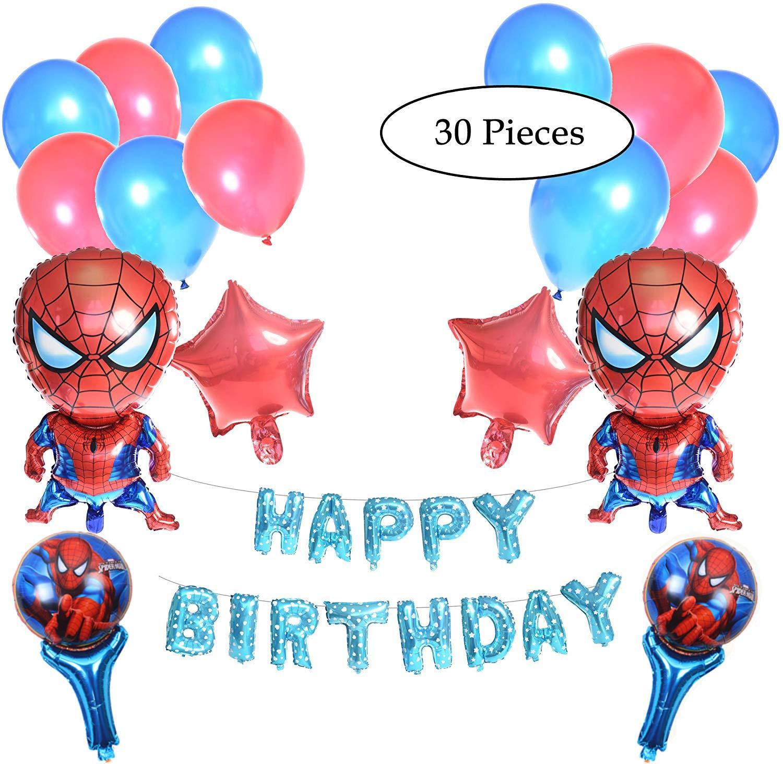 PartyGurus Decoración para Fiesta de cumpleaños de Spiderman ...