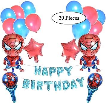 Spiderman Pack De 30 Decoraciones Para Fiesta De