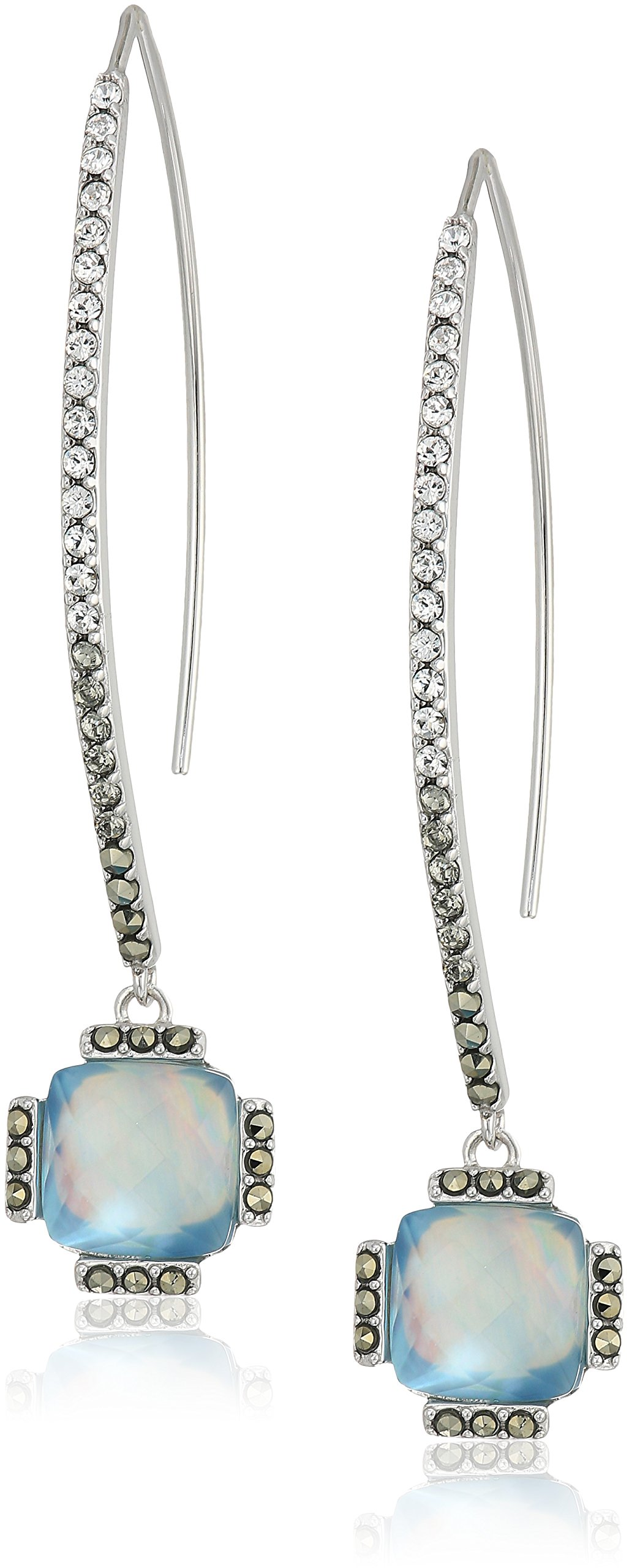 judith jack sterling silver and blue threader drop earrings