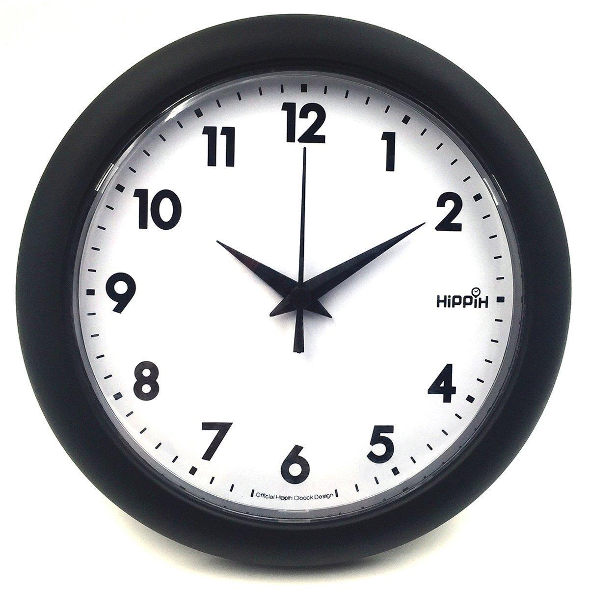 Amazon hippih 10 silent quartz decorative wall clock non amazon hippih 10 silent quartz decorative wall clock non ticking black 249 a home kitchen amipublicfo Images
