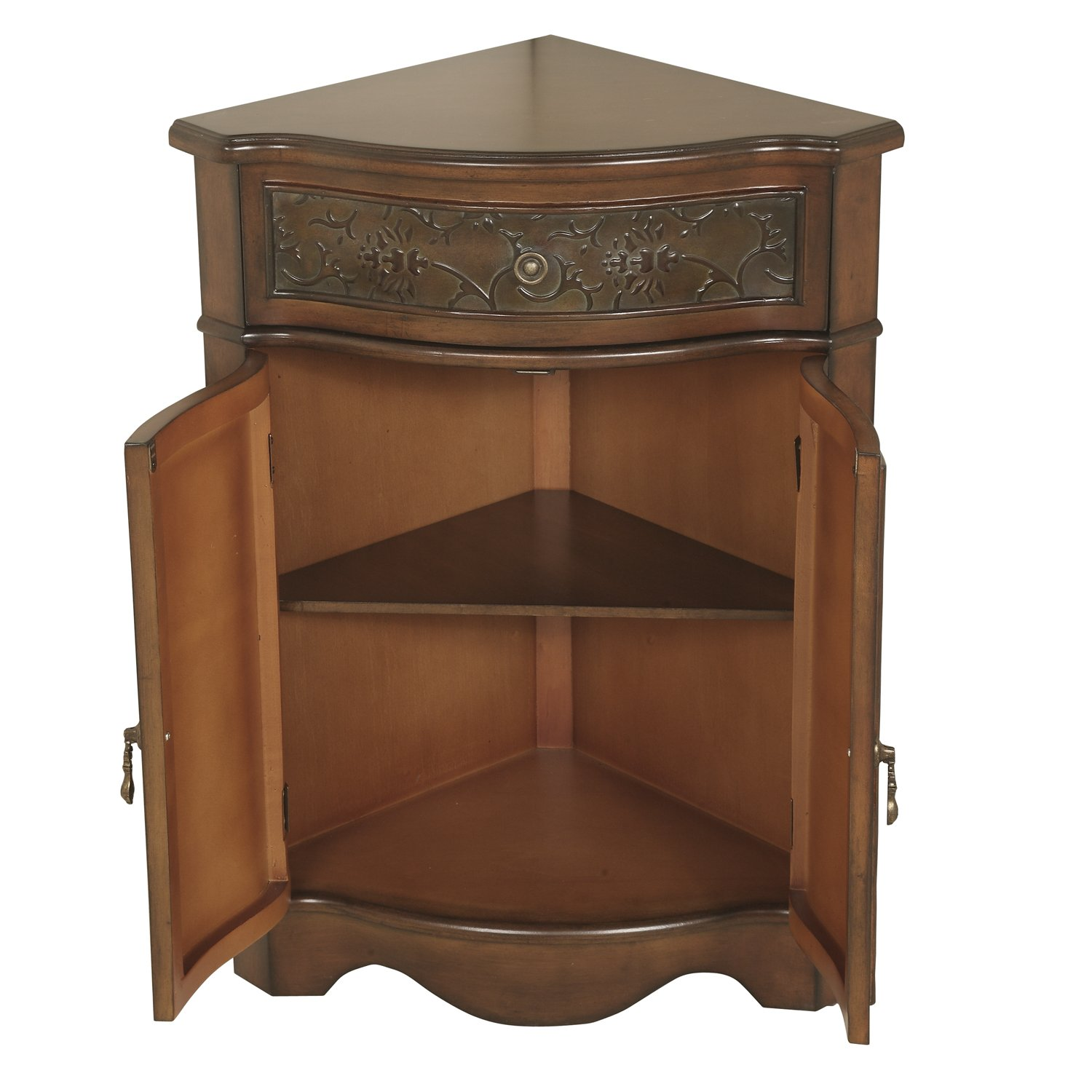 Amazon.com: Walnut Corner Cabinet: Kitchen & Dining