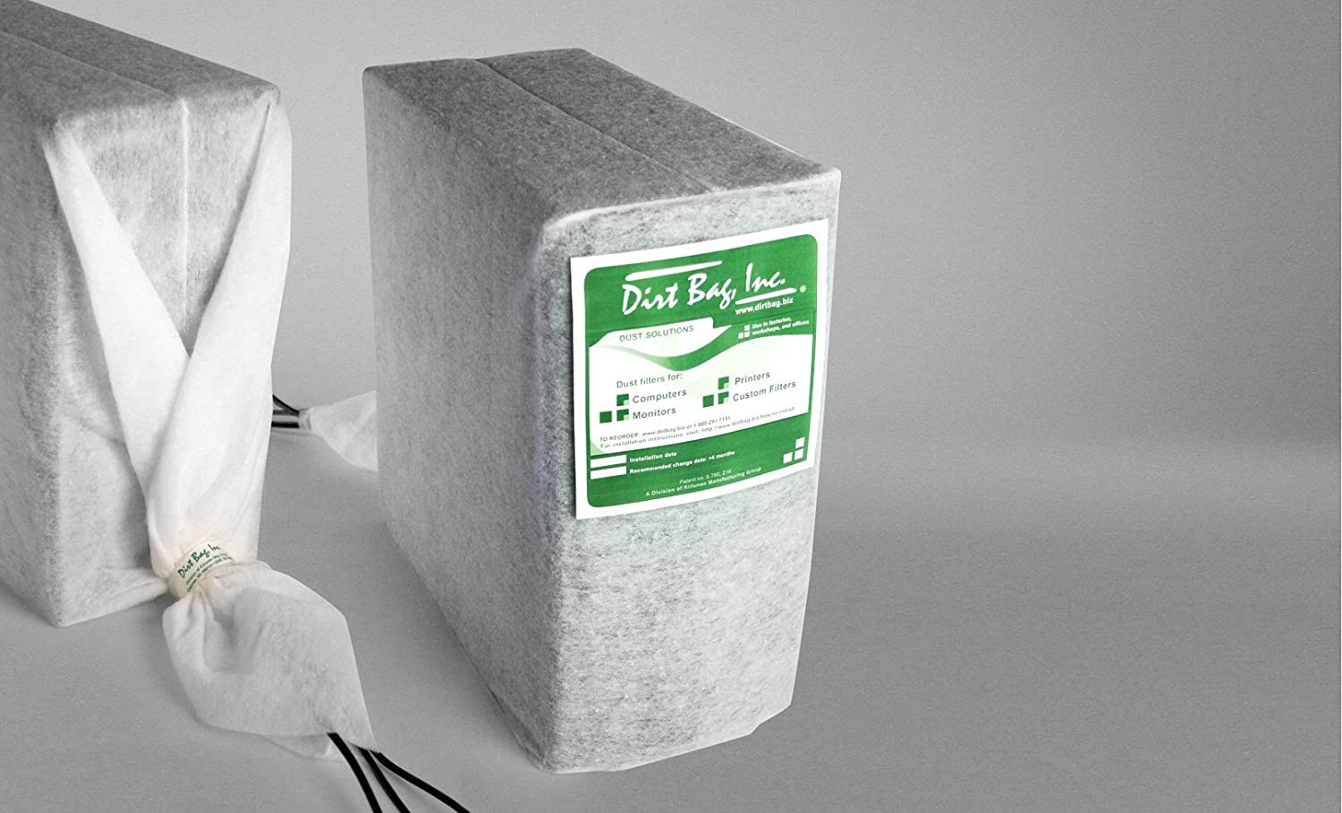 24 hr protection- even while in use Dirtbag Inc several sizes available 8W X 12H Computer Dust Cover non woven polyester