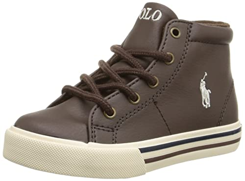 530c7f674ab7f8 Polo Ralph Lauren Kids Scholar Mid Fashion Mid Top Sneaker (Toddler Little  Kid