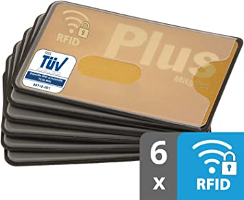 RFID Blocker NFC Schutzhülle EC Kartenhülle Blau Stabil Kreditkarte Scheckkarte
