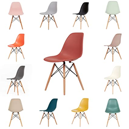 Surprising Ochs Modern Dining Plastic Chair With Eiffel Retro Wooden Legs Dining Office Bedroom Kitchen Desk Plastic Eiffel Chairs Coral Pink Evergreenethics Interior Chair Design Evergreenethicsorg