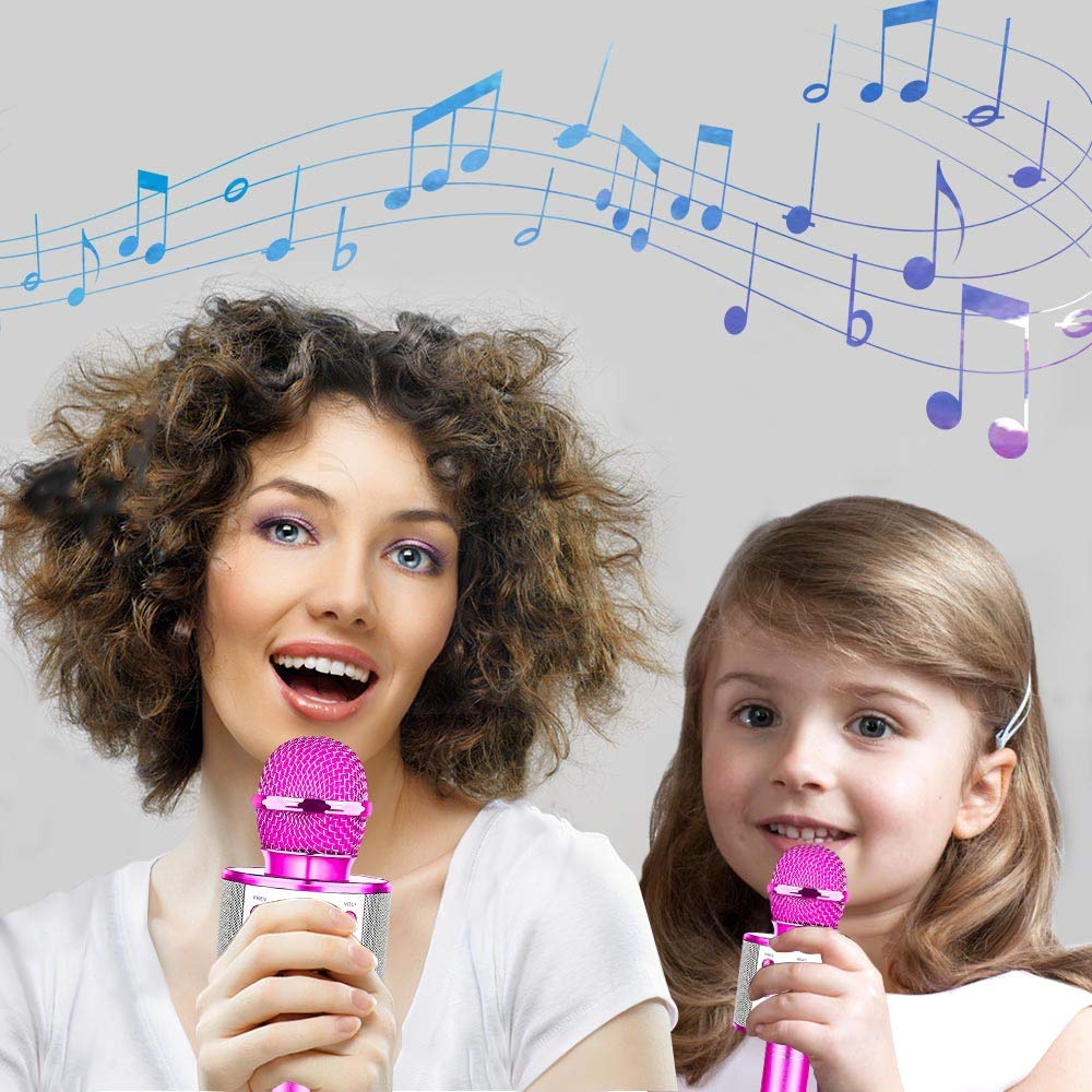 HahaGift Toys Birthday Gifts for 3 4 5 6 7 8 9 Year Old Girls, Bluetooth Karaoke Microphone for Kids Toys for 3-14 Year Old Girls Boys Purple by HahaGift (Image #4)