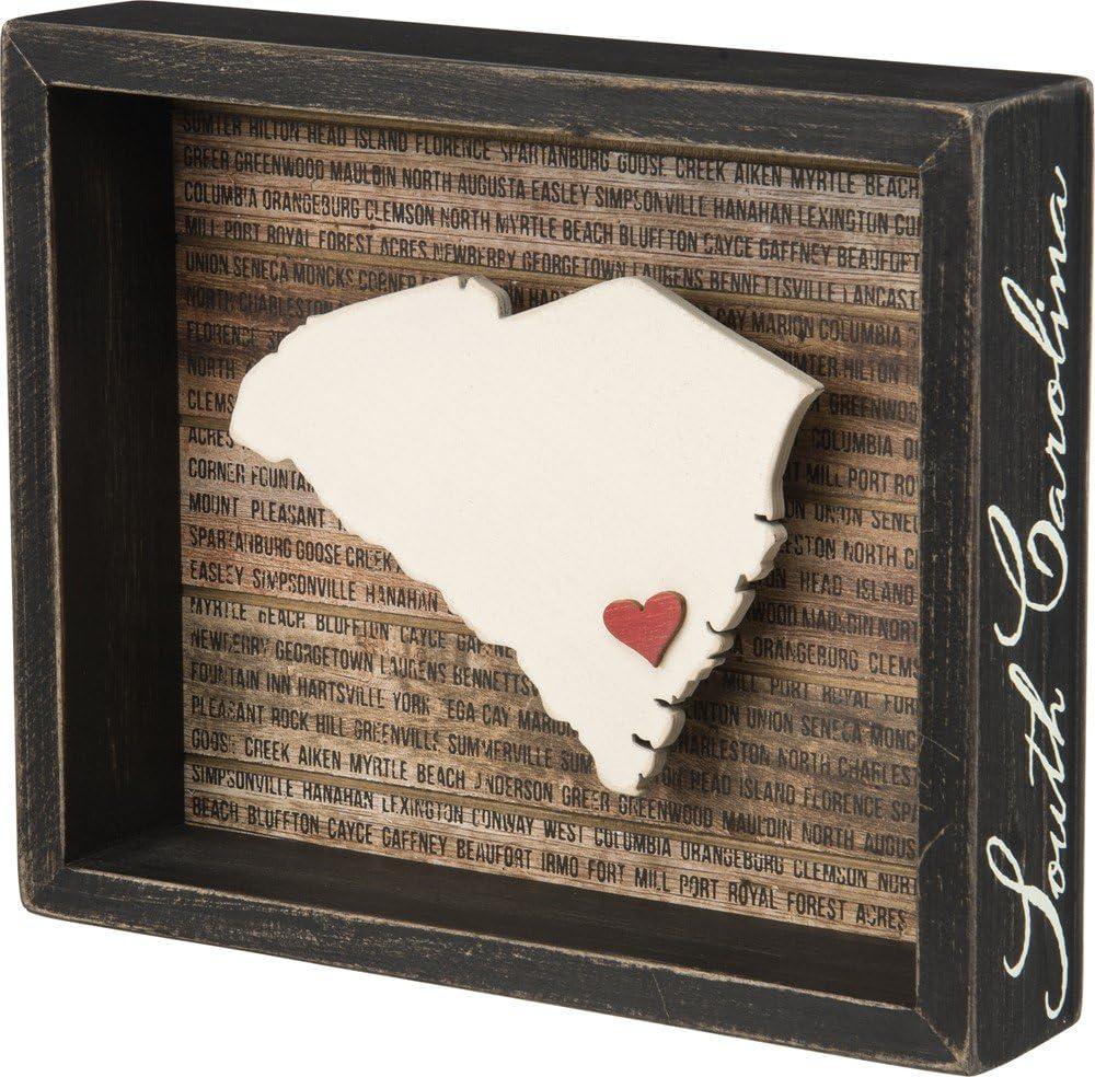 "Primitives by Kathy Box Sign, 8.5"" x 7"", South Carolina"