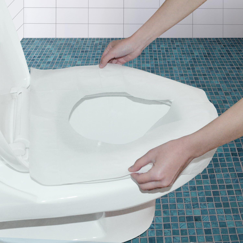 Housse de si/ège de toilette portable jetable en papier pour si/ège de toilette camping camping voyage camping salle de bain 100 pi/èces