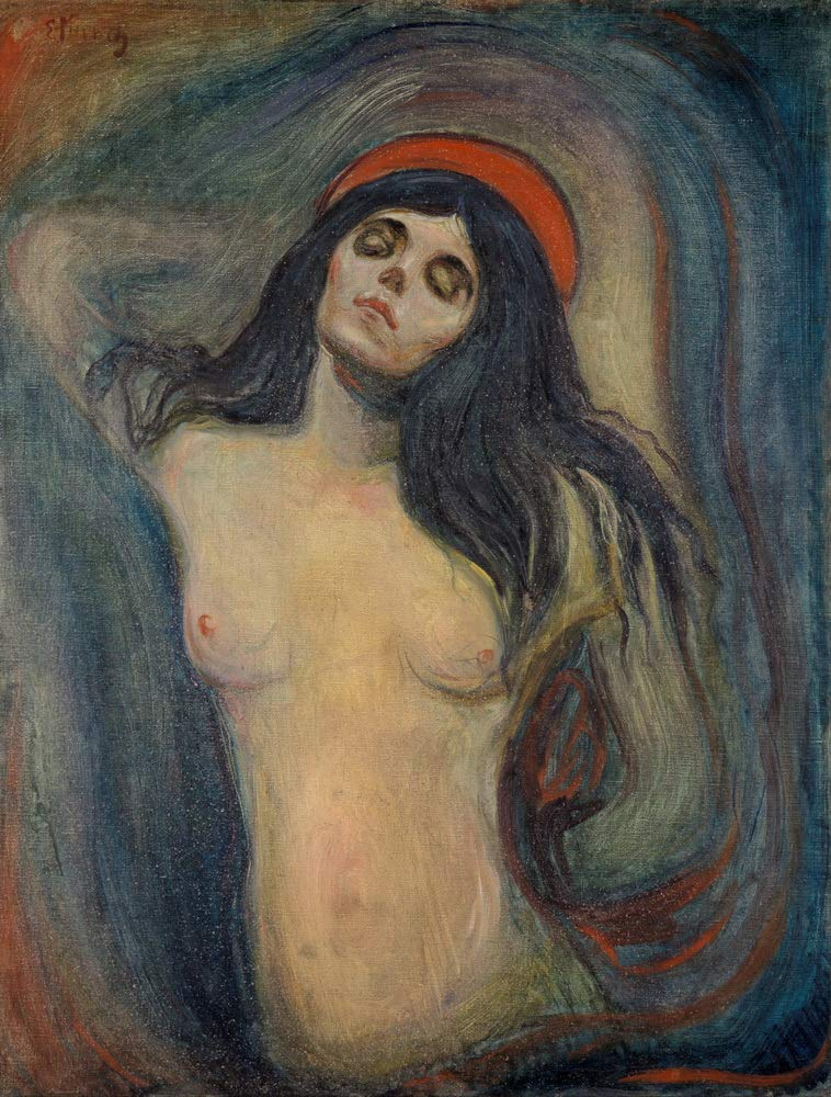 Edvard Munch Madonna Giclee Art Paper Print Paintings Poster Reproduction