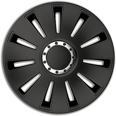 4pc Enjoliveurs de roues Rst Noir 14 pouces