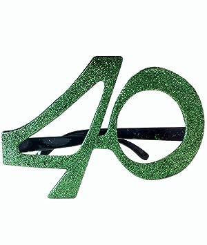Gafas para cumpleaños con la edad - 40 años: Amazon.es ...