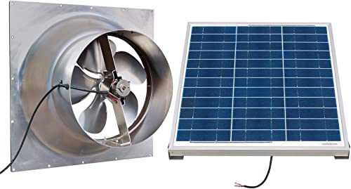 Natural Light Gable Mounted Solar Attic Fan – 60 Watts – 3100 sq ft