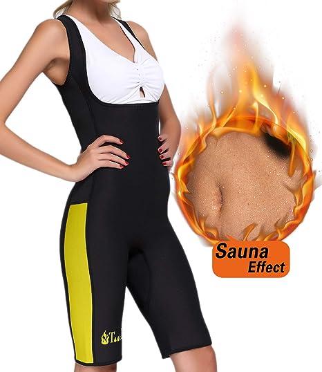 59d9e738aa Tooklanet Women Full Body Shapewear Sauna Suit Neoprene Weight Loss Gym  Sport Vest S (US