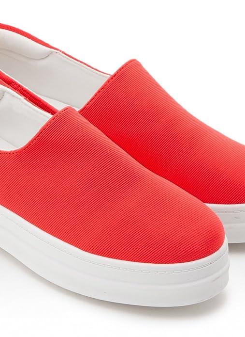 Schuhzoo - Damen Slipper Sneaker Freizeitschuhe Halbschuhe Elastisch Schwarz Pink Orange Weiß Größe 36 37 38 39 40 41-Orange-39 RZgc6Gxw4