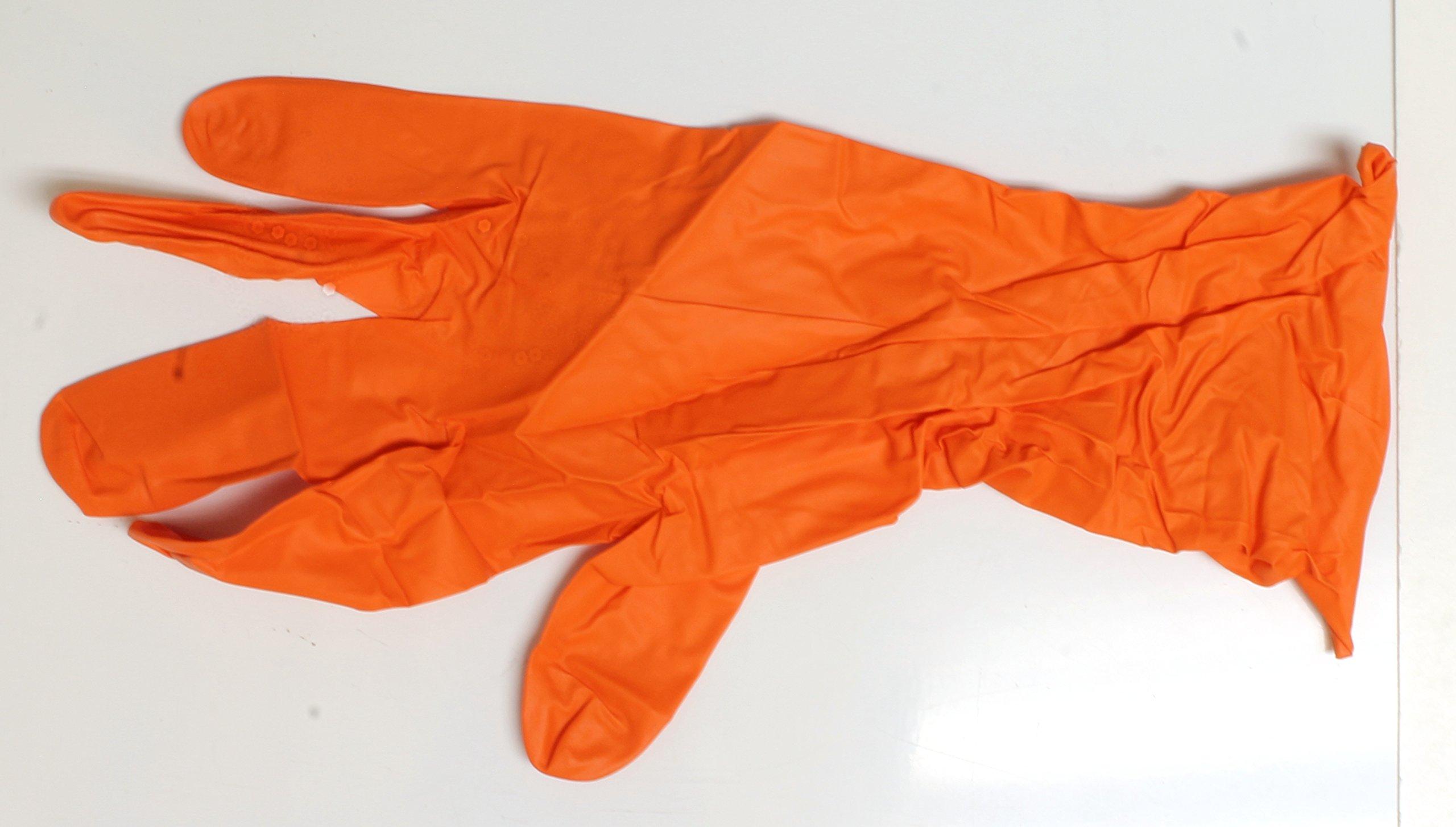 Bulk Nitrile Small Disposable Gloves Orange 5 Mil Box Of 300