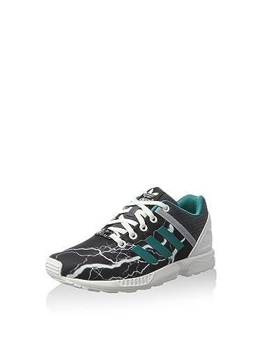 Adidas Originals ZX flujo Split Onyx Childrens corriendo Trainers zapatos