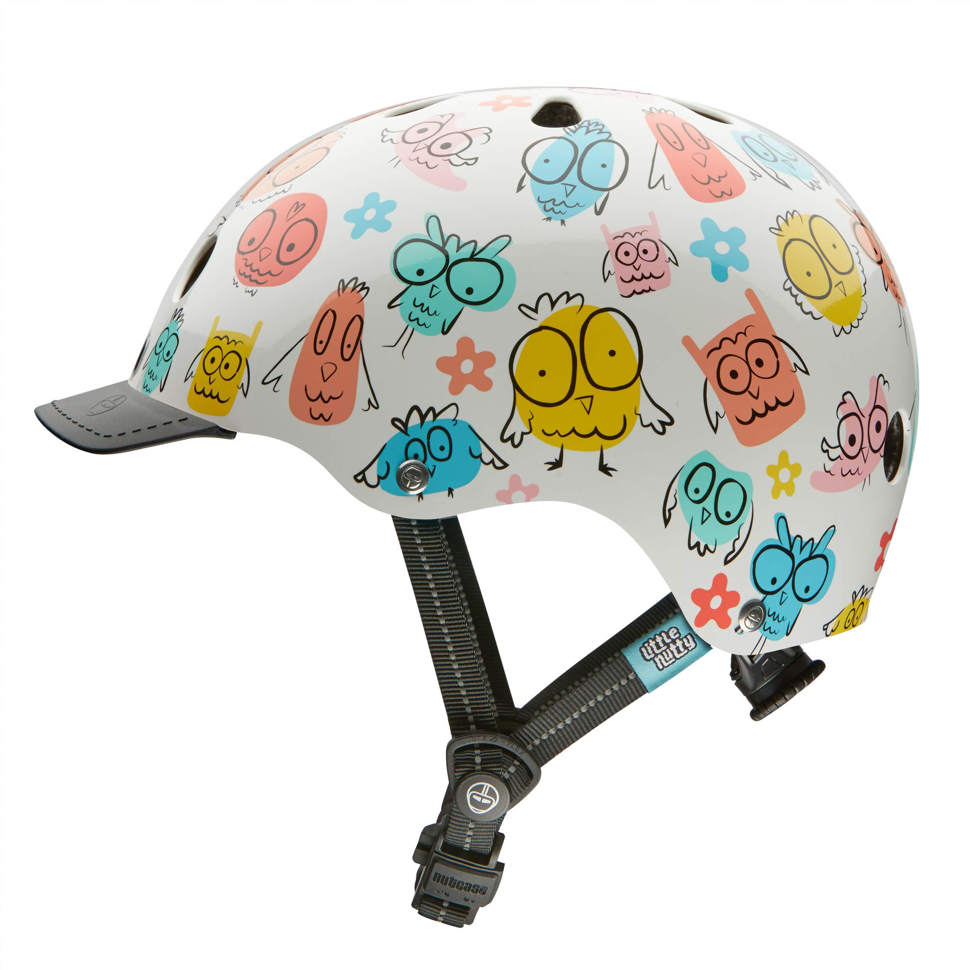 Nutcase - Little Nutty Bike Helmet for Kids, Owl Party, X-Small