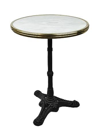 Ordinaire Amazon.com: French Bistro Table, White Marble U0026 Iron Base: Home U0026 Kitchen