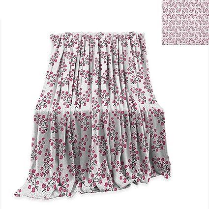 Amazon.com: Asian Throw Blanket Sakura Bloom with Blossoming ...