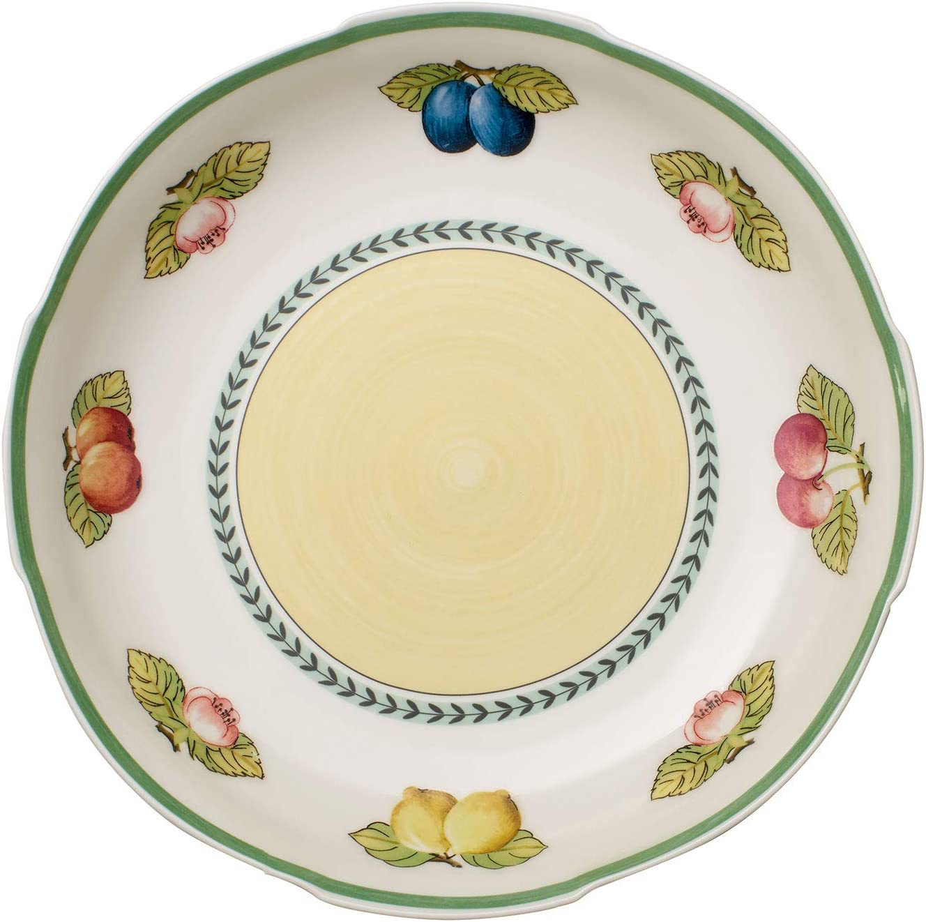 Villeroy & Boch French Garden Fleurence Pasta Serving Bowl, 15 in, White/Colored