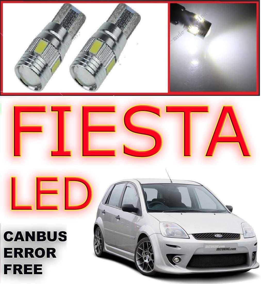 Fits Ford Fiesta Headlight MK6 100w Super White Xenon Led Side Light Bulbs 12v