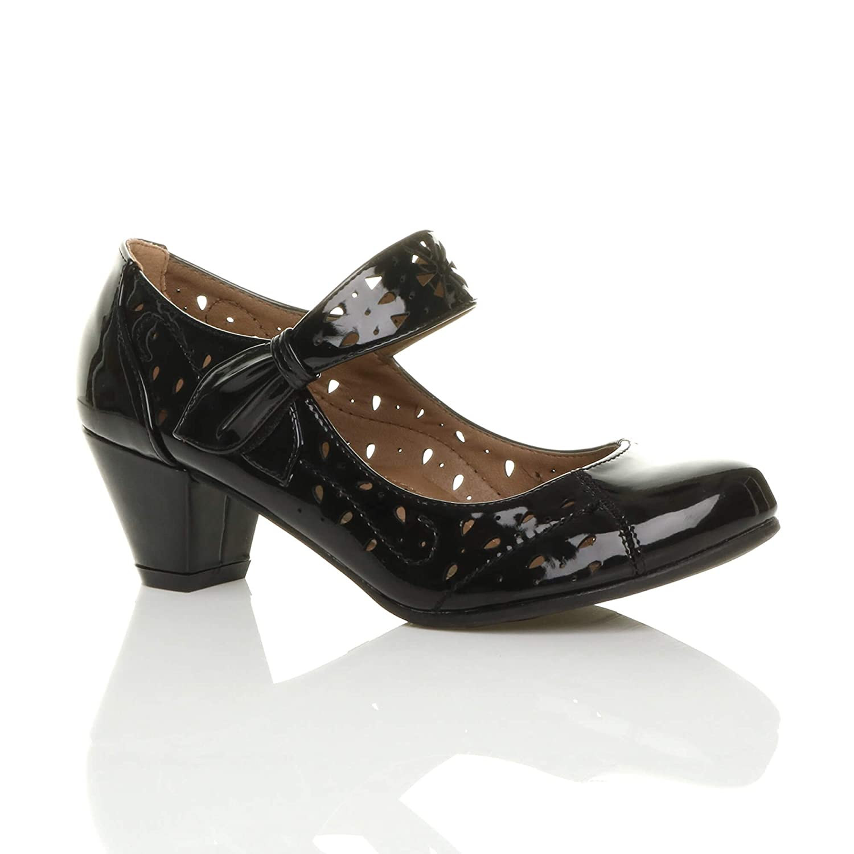 Femmes découper Talon Escarpins Moyen Babies B075S1N4N9 découper Chaussures Richelieu Escarpins Pointure Noir Verni 947604a - piero.space