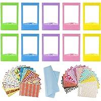 10 STUKS Kleurrijke Mini Fotolijsten Met 40 Vellen Kleurrijke Foto Instant Films Sticker En 1 Stuks Reinigingsdoekje…